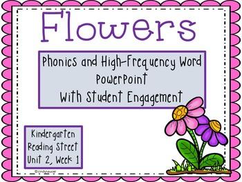 Flowers, PowerPoint, Kindergarten, Unit 2, Week 1