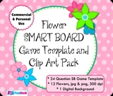 Flowers SMART BOARD Game Template and Clip Art - Commercial and Personal Use