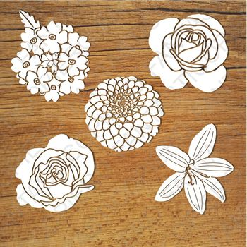 Flowers SVG files for Silhouette Cameo and Cricut.