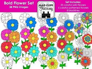 Flowers Set {Bold Colors}
