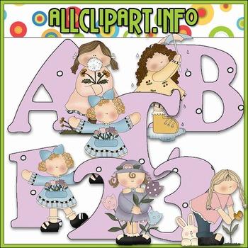 Flowers & Showers Lettering Delights Alphas - Cheryl Seslar Clip Art
