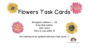 Flowers Task Cards growing bundle