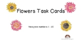 Flowers Task Cards Identify Draw Numbers 1-20