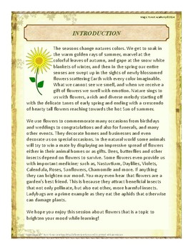 Flowers Themed Nature Education Unit-Stage 2 (Magic Forest Academy)
