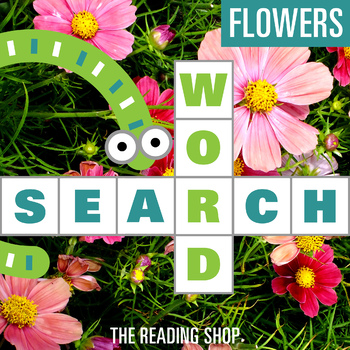 Flowers Word Search for Primary Grades - Wordsearch Puzzle
