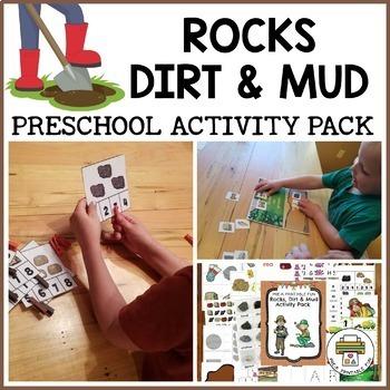 Rocks, Dirt & Mud Themed Activities for Pre-K, Preschool and Tots