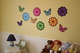 Flowers and Butterflies Wall Decorations