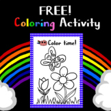 FREE: Flowers and Butterfly  Coloring Activity