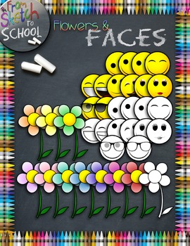 Flowers and Faces {From Sketch to School Clipart}