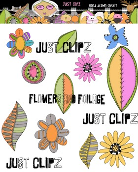 Flowers and Foilage Clip Art
