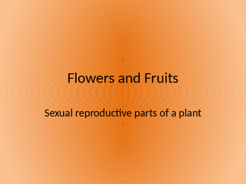 Flowers and Fruits Lesson