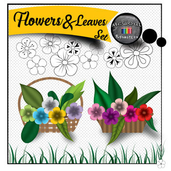 Flowers and Leaves Clip art Set
