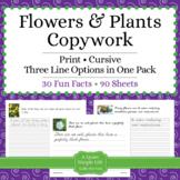 Flowers and Plants Unit - Copywork - Print - Handwriting