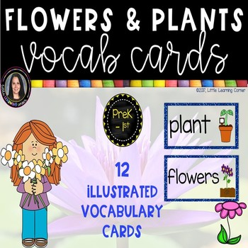 Flowers and Plants Vocabulary Word and Picture Cards