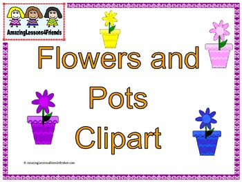 Flowers and Pots Clipart