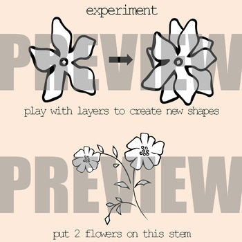 Flowers and Stems Clip Art