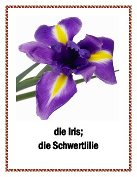 Flowers and Trees in German Posters