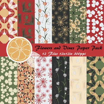 Flowers and Vines Paper Pack