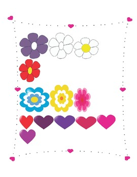 Flowers and hearts-clipart set 2
