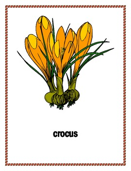 Flowers and trees in English Posters