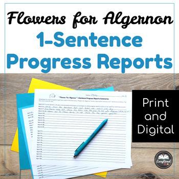Flowers for Algernon 1-Sentence Progress Report Summaries