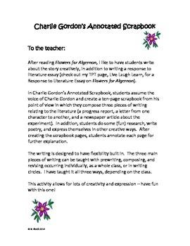 Flowers for Algernon - Charlie Gordon's Scrapbook