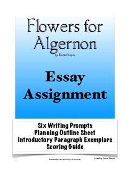 flowers for algernon teaching resources teachers pay teachers flowers for algernon essay flowers for algernon essay