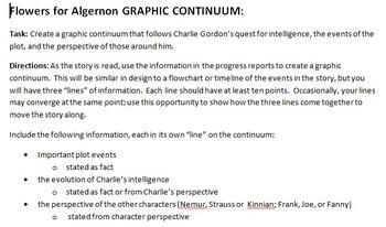 Flowers for Algernon Graphic Continuum