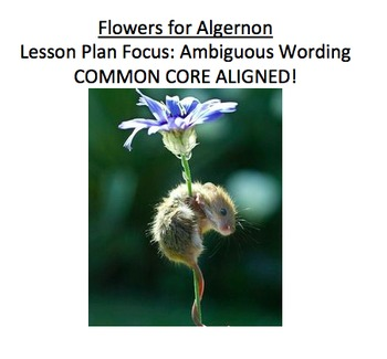 Flowers for Algernon Lesson Plan on Ambiguous Wording