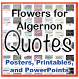 Flowers for Algernon Novel Quotes Posters and Powerpoints