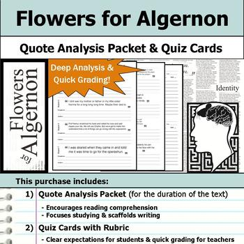 Flowers for Algernon - Quote Analysis & Reading Quizzes