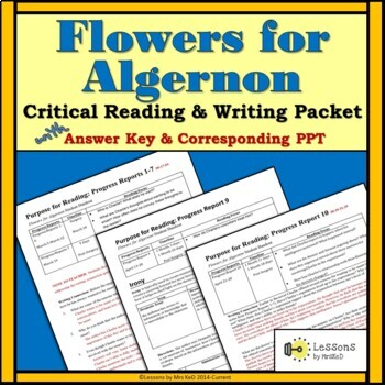 Flowers for Algernon: Reading and Writing Packet