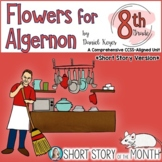 Flowers for Algernon Short Story Unit (by Daniel Keyes) fo