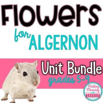 Flowers for Algernon Unit Bundle, Vocabulary, Pre-Reading, Critical Thinking