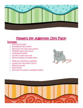 Flowers for Algernon Unit Pack