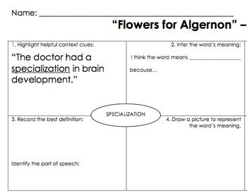 """Flowers for Algernon"" Vocabulary"