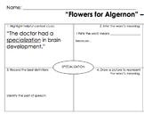 """""""Flowers for Algernon"""" Vocabulary"""