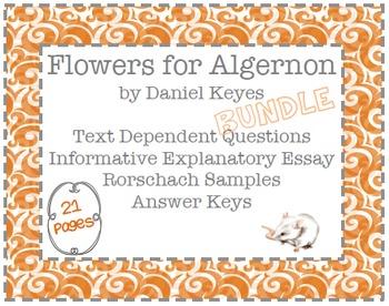 Flowers for Algernon Text Dependent Questions & Essay BUNDLE