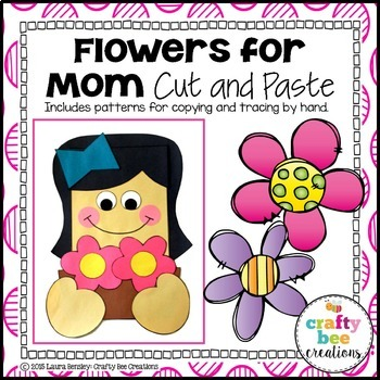 Flowers for Mom (Mother's Day) Cut and Paste