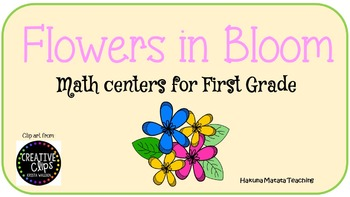 Flowers in Bloom Spring Math Center Bundle