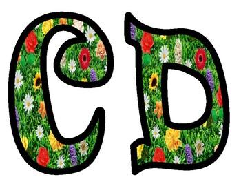 Flowers in Field Bulletin Board Letters