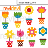 Flowers in Pots Clip art - spring clipart resource