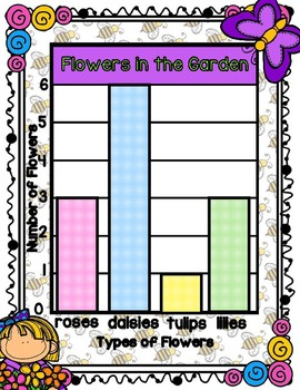 Flowers in the Garden Bar Graphing File Folder Game