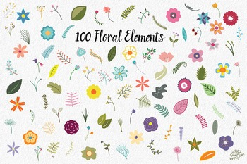 Flowers of Camelot Floral Clip Art - 180 PNG and EPS Vector Images