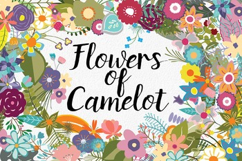 Flowers of Camelot Floral Clip Art - 180 PNG and EPS Vecto