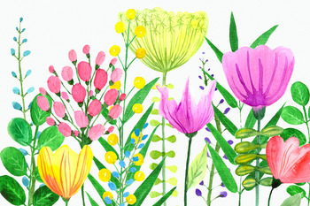 Flowers of the Valley Clip Art Set
