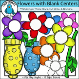Flowers with Blank Centers Clip Art Set - Chirp Graphics