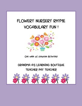Flowery Nursery Rhyme Vocabulary Fun