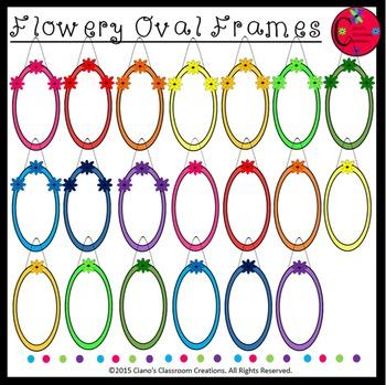 Flowery Oval Frames