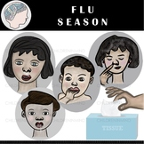 Flu Season Clipart - Winter Clipart - Weather Clipart